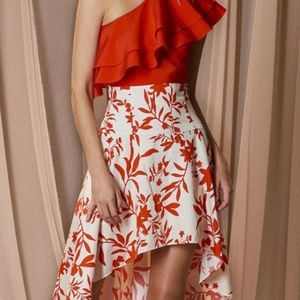 The Jetset Diaries Tiare High Low Skirt Floral